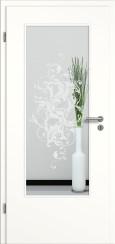 Tür weiß mit Sandstrahlmotiv SAND 39