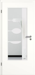 Tür weiß mit Sandstrahlmotiv SAND 52