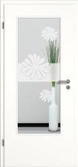 Tür weiß mit Sandstrahlmotiv SAND 57