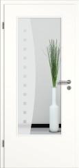 Tür weiß mit Sandstrahlmotiv SAND 9