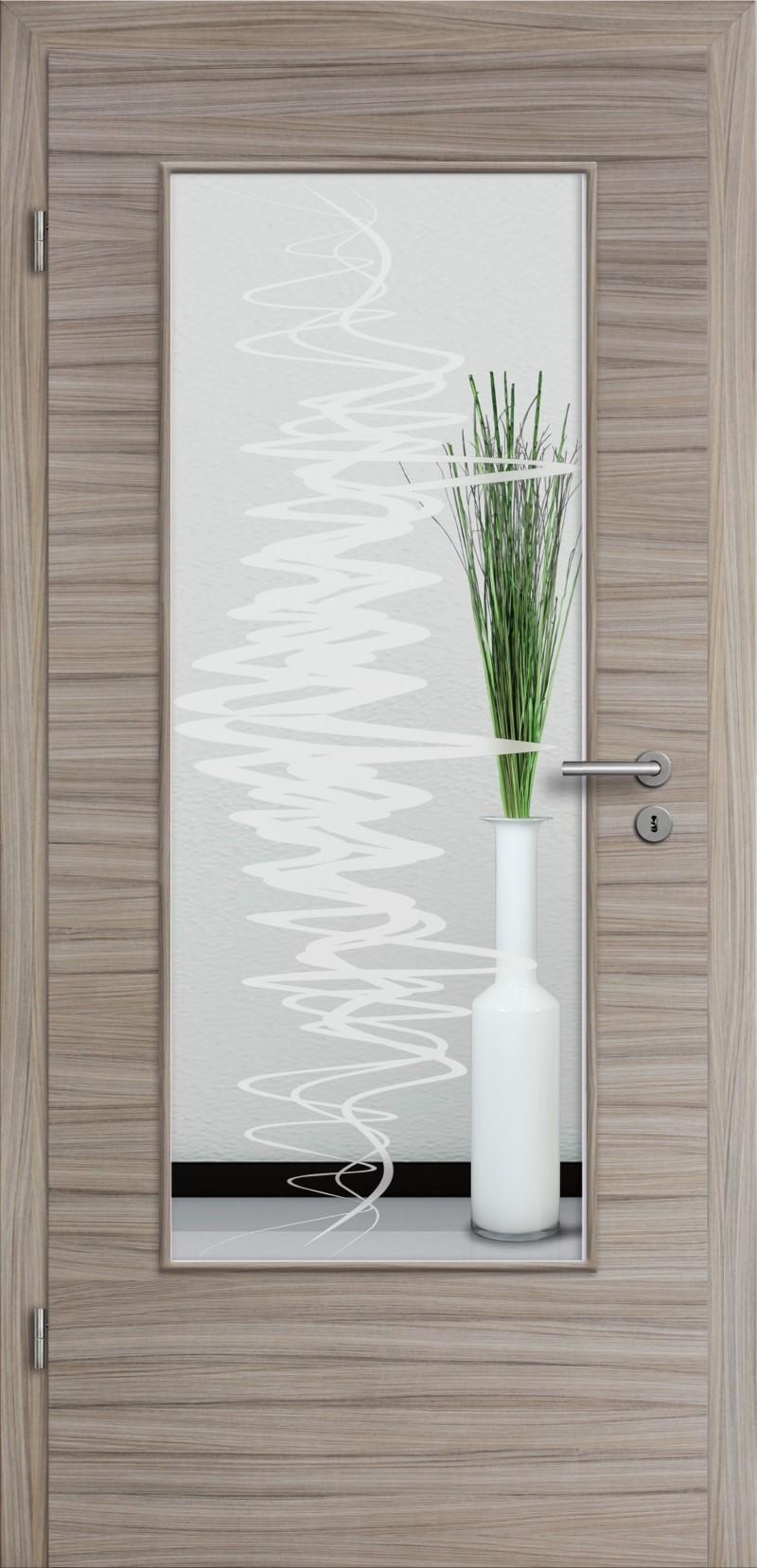 t r glattkante mit glasmotiv sand 37 cpl geb rstet. Black Bedroom Furniture Sets. Home Design Ideas