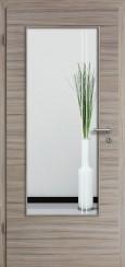 Tür CPL gebürstet Akazie Steingrau mit Sandstrahlmotiv SAND 23