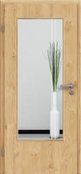 Tür Edelfurnier Eiche astig natur geölt mit Sandstrahlmotiv SAND 23