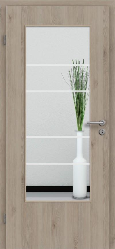 t r designkante mit glasmotiv sand 29 tuer und. Black Bedroom Furniture Sets. Home Design Ideas