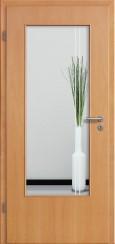 Tür Echtholz furniert Buche mit Sandstrahlmotiv SAND 23