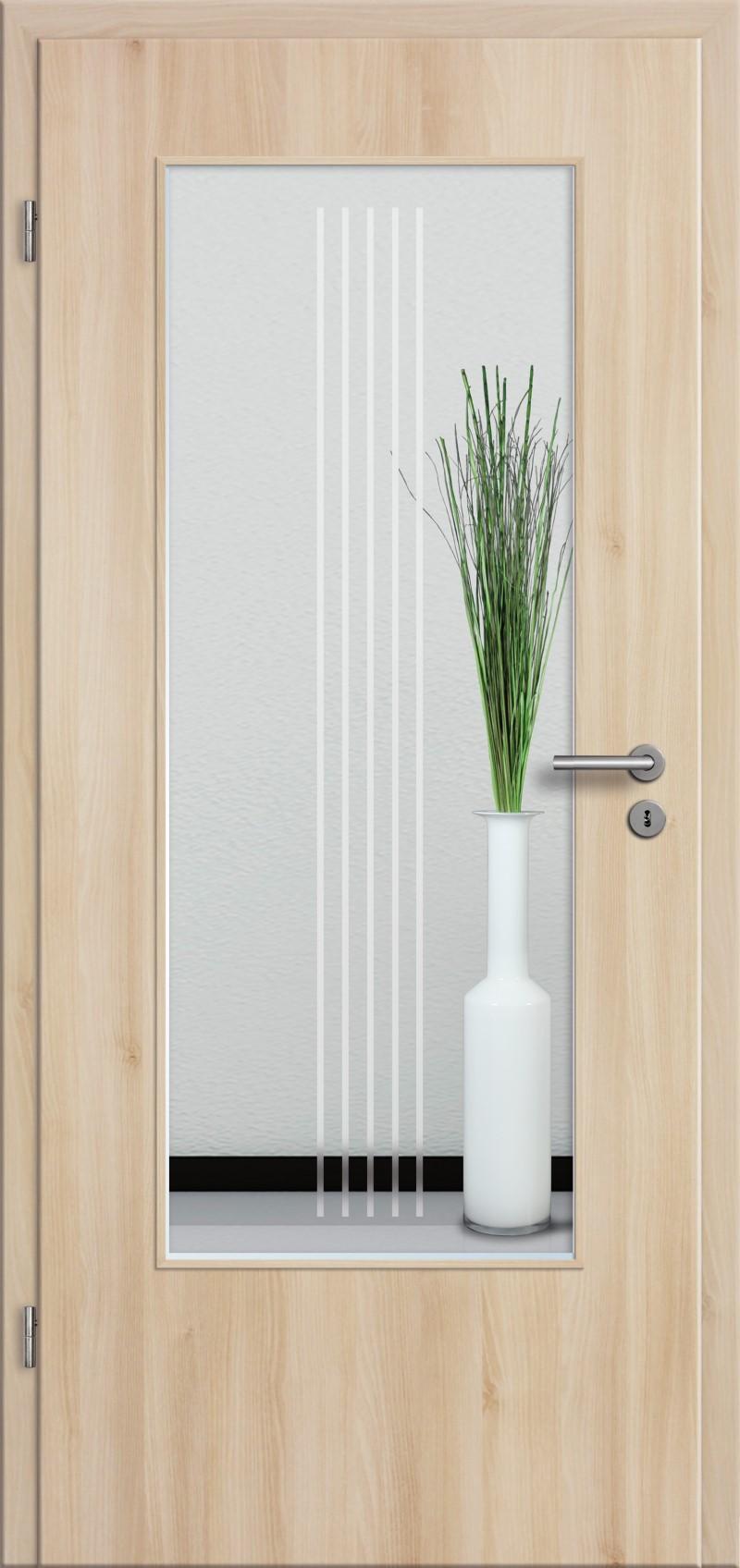 t r rundkante mit glasmotiv sand 3 tuer und. Black Bedroom Furniture Sets. Home Design Ideas