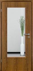 Tür Echtholz furniert Eiche rustikal mit Sandstrahlmotiv SAND 23