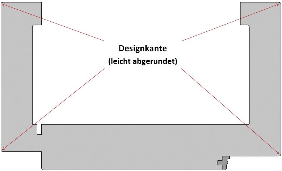 Zarge mit Designkante