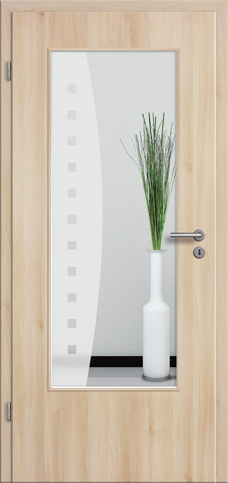 t r rundkante mit glasmotiv sand 9 tuer und. Black Bedroom Furniture Sets. Home Design Ideas