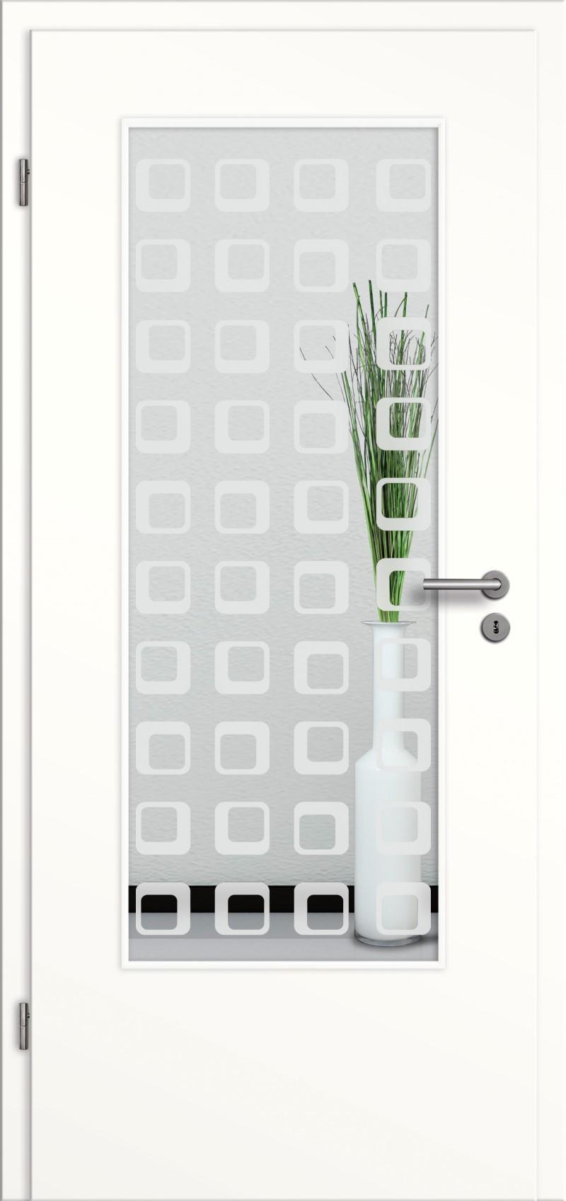 t r rundkante mit glasmotiv sand 35 tuer und. Black Bedroom Furniture Sets. Home Design Ideas