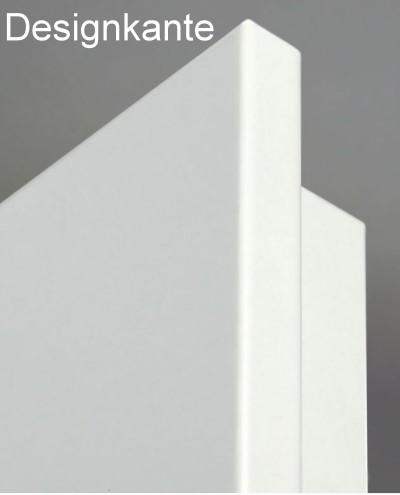 Designkante einer weißen Wohnungseingangstür