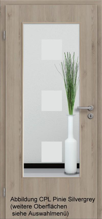 cpl t ren natural touch serie basic mit glas sandstrahlmotiv. Black Bedroom Furniture Sets. Home Design Ideas
