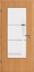 Tür Echtholz furniert Buche mit Sandstrahlmotiv SAND 41
