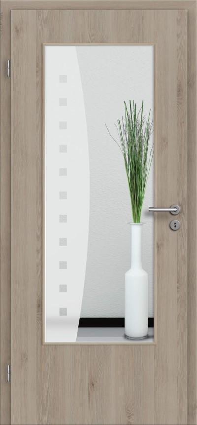 t r designkante mit glasmotiv sand 9 tuer und. Black Bedroom Furniture Sets. Home Design Ideas